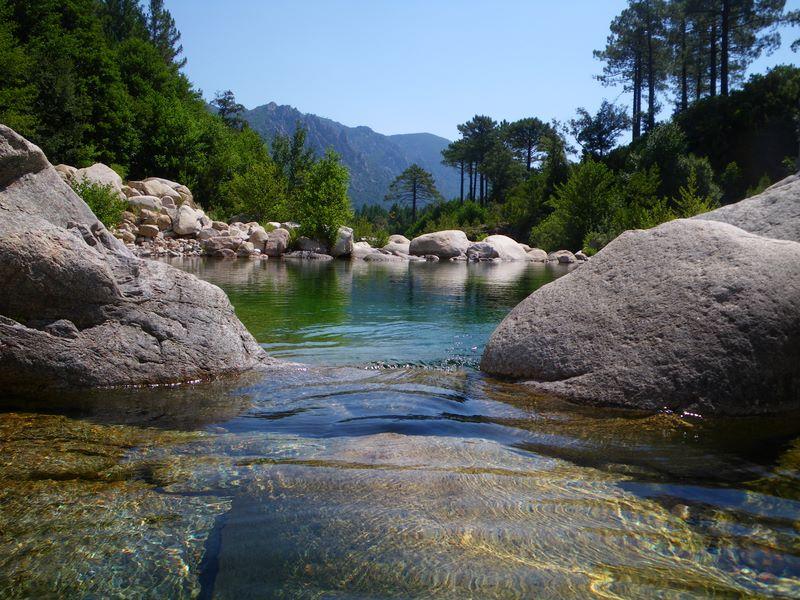 Rivière Le Cavu en Corse du Sud
